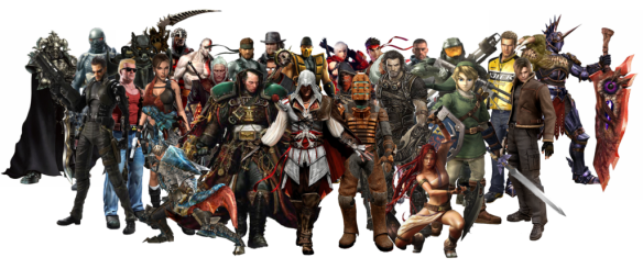 game character collage