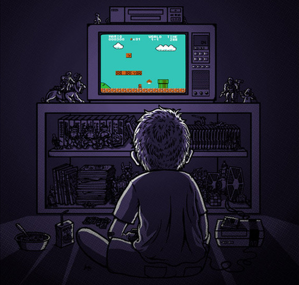 playing NES