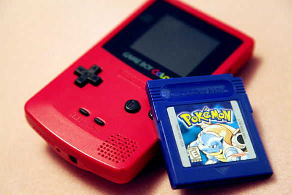 game boy color and pokemon blue